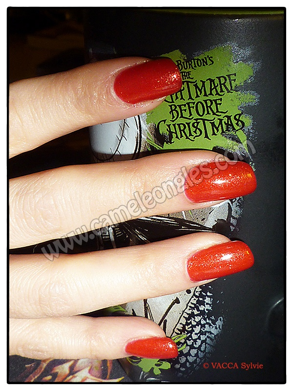 Pose resine-vernis permanent rouge orang iris