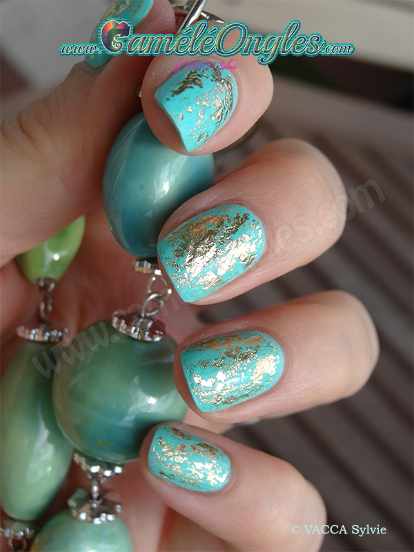 Turquoise et feuille d'or !!